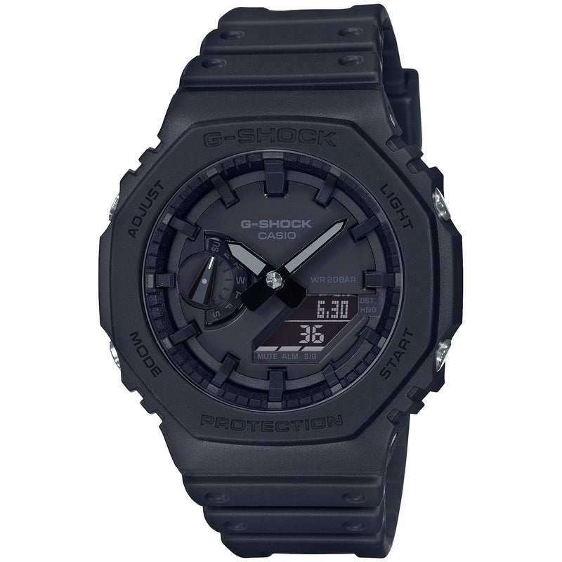 Casio G-Shock Black Carbon Core Guard 2100 Series GA-2100-1A1