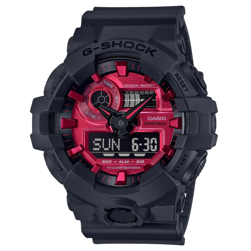 Casio G-Shock Adrenaline Red Black Analog Digital AR Watch GA700AR-1A