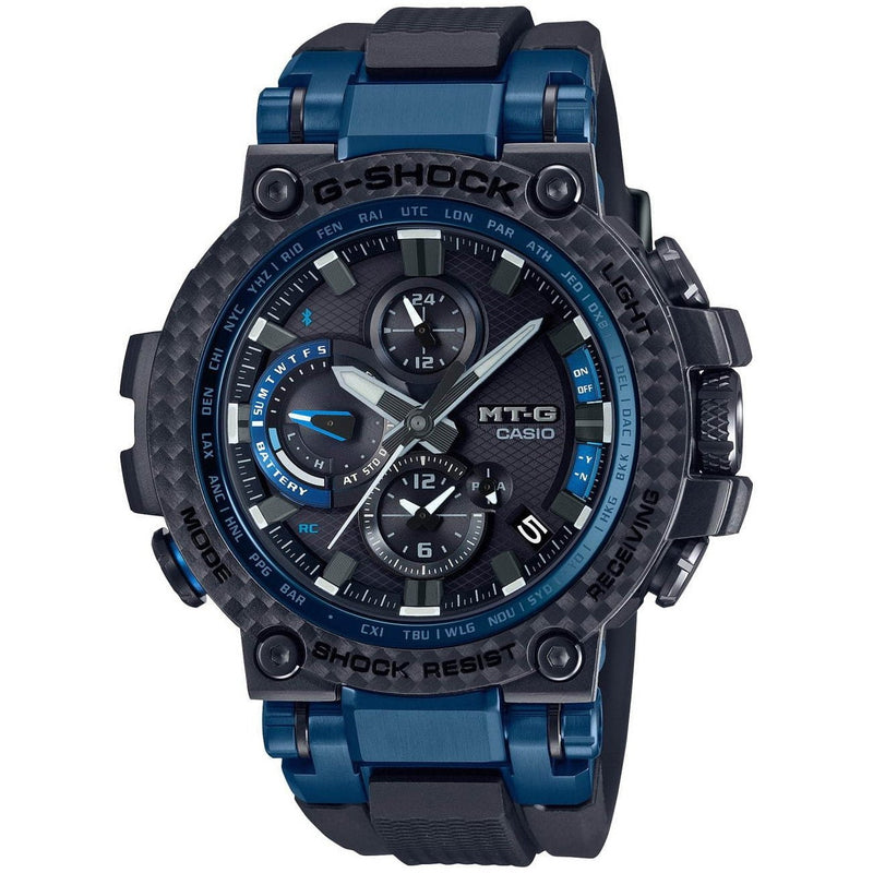 Casio G-Shock MT-G MTGB1000XB1A Blue Bluetooth Watch Carbon Bezel