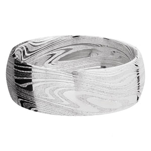 Lashbrook 8MM Damascus Marble Wedding Band
