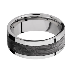 Lashbrook 8MM Cobalt Chrome Wedding Band with Forged Carbon Fiber
