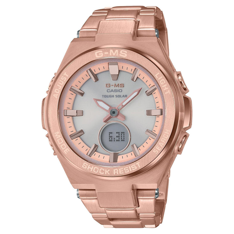 Casio G-Shock G-MS Rose Gold Stainless Steel Womens Watch MSGS200DG-4A