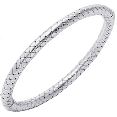 Charles Garnier Sterling Silver 5mm Monza Mesh Bangle Bracelet