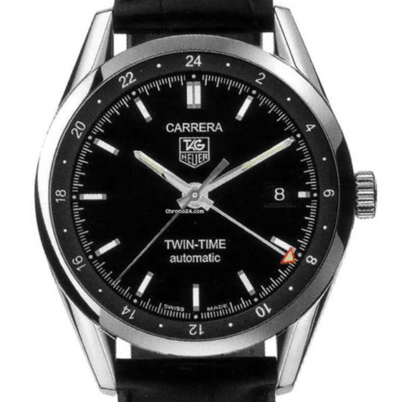 Pre-Owned Tag Heuer Twin-Time Automatic Carrera Watch WV2115.FC6180