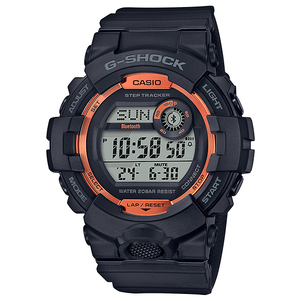 Casio G-Shock G-Squad Bluetooth Orange Copper Step Tracker Watch GBD800SF-1