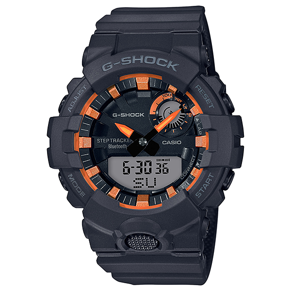 Casio G-Shock Black Copper Orange StepTracker Analog-Digital Watch GBA800SF-1A