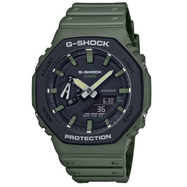 Casio G-Shock GA2110SU-3A Green Black Carbon GA-2110SU-3A Casioak Watch