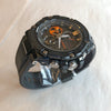 Casio G-Shock G-Steel Stainless Black IP Orange Rubber Solar Watch GSTB100-1A4