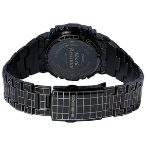 CASIO G-Shock Full Metal Square GMW-B5000CS-1 Laser Etched Grid Solar Watch