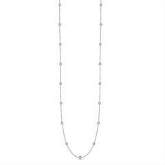 Roberto Coin DIAMONDS BY THE INCH 15 STATION DIAMOND NECKLACE White Gold