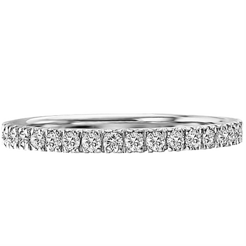 Scott Kay Diamond Eternity Anniversary Band Ring Four Prongs 19K White Gold