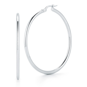 Roberto Coin White Gold 45mm Hoop Earrings
