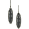 "Doves ""Haute Hematite"" Diamond Marquise Dangle Earrings 18K Black"