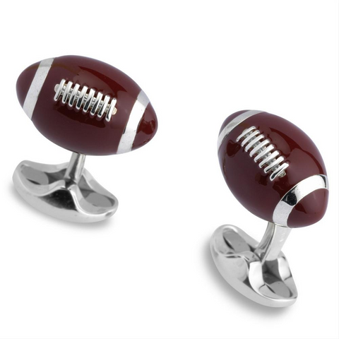 Deakin & Francis Football Enamel Sterling Silver Cufflinks