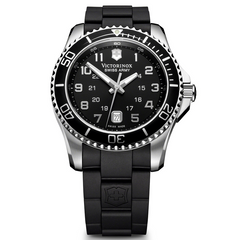 Victorinox Swiss Army Maverick GS Black Dial Rubber Watch Men's 241435