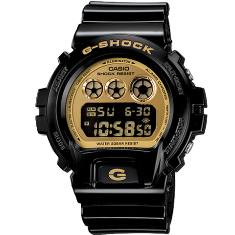 Casio G-Shock Metallic Gold Gloss Black Men's Digital Watch DW6900CB-1