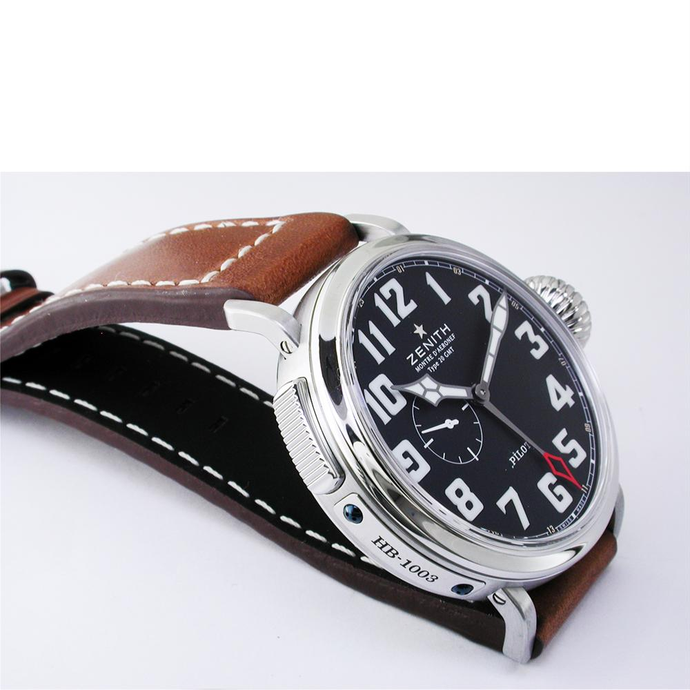 Zenith Pilot Type 20 GMT Automatic Steel Black Dial Watch 48mm 03.2430.693/21.C723