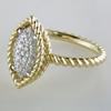 Roberto Coin New Barocco 18K Yellow and White Gold Marquise Shape Diamond Ring 7771328aj65x