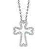 Roberto Coin TINY TREASURES DIAMOND SMALL CROSS NECKLACE Pendant