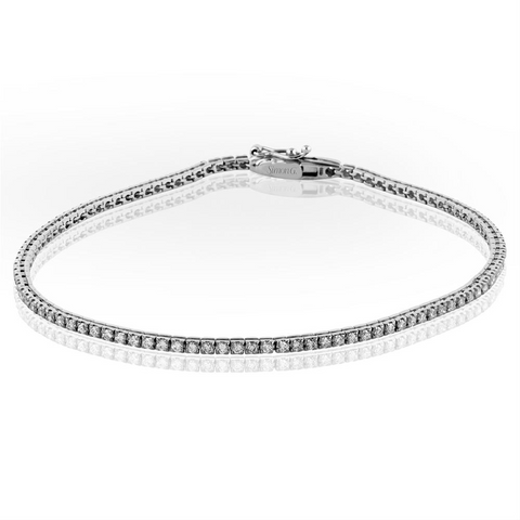 Simon G. Classic Diamond Tennis Bracelet 1 Carat+ 18K White Gold MB1557