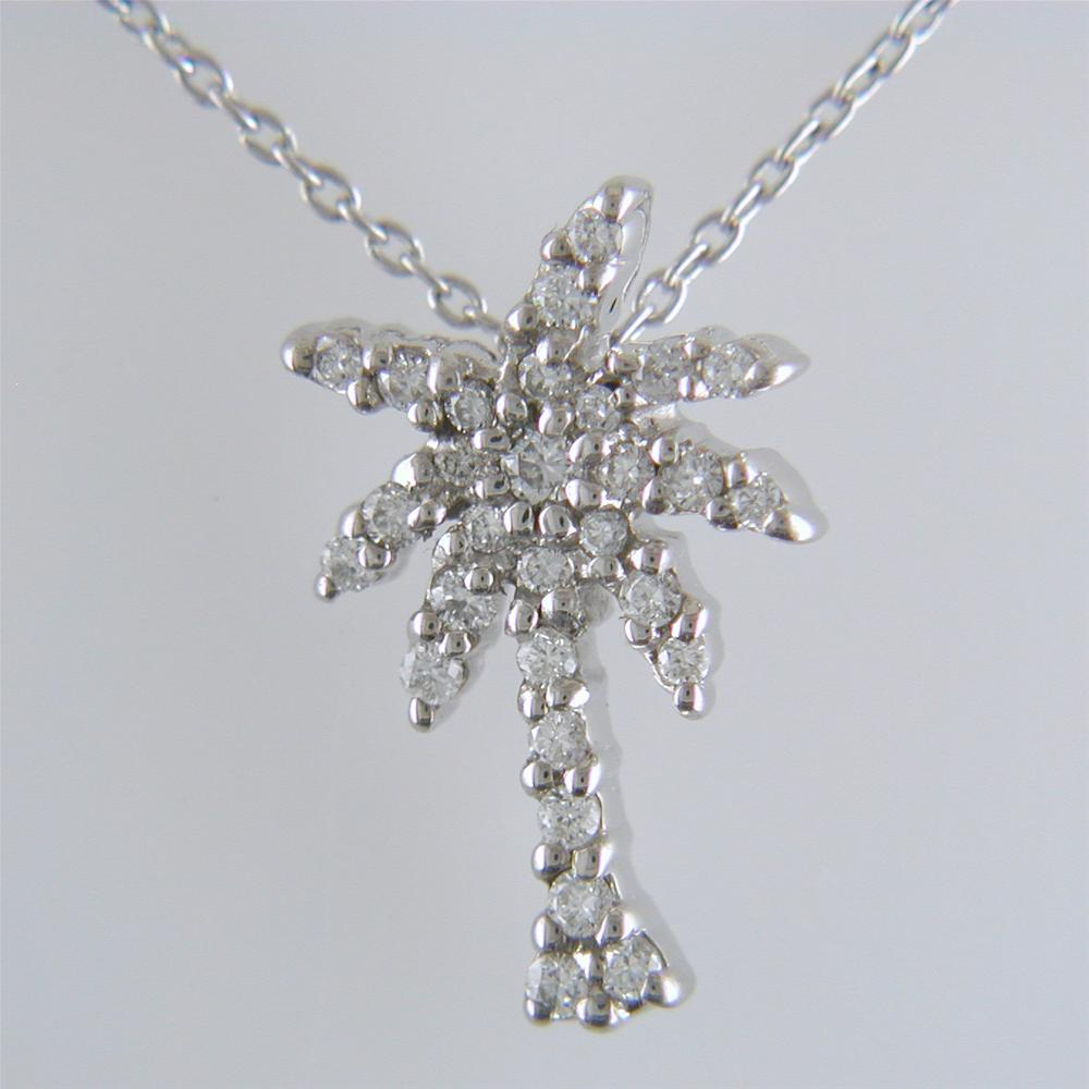 Roberto Coin TINY TREASURES DIAMOND PALM TREE NECKLACE Pendant