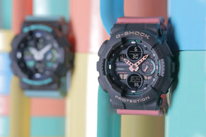 Casio G-Shock GMAS140-2A Blue Teal Womens Analog-Digital Watch 90's Colors 2019