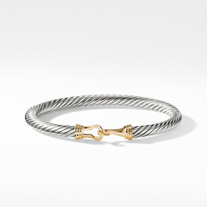 Buckle Cable Bracelet with Gold 5MM