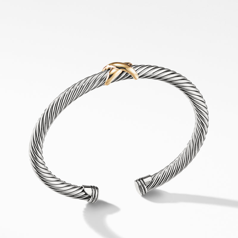 Cable X Bracelet with Gold 5MM