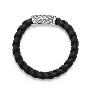 Men's Chevron Bracelet in Black 8mm