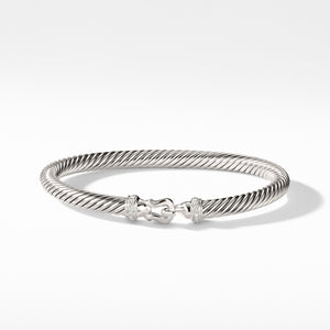 Buckle Cable Bracelet with Diamonds 5mm