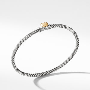 Cable Collectibles Heart Bracelet with Gold 3mm