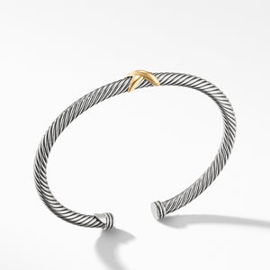 Cable X Bracelet with Gold 4MM