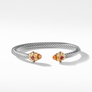 Renaissance Bracelet with Citrine, Rhodalite Garnet and 14K Gold