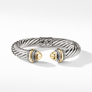 10MM Cable Classics Bracelet with Bonded Yellow Gold and 14K Gold
