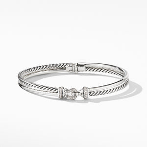Buckle Two-Row Bracelet with Diamonds