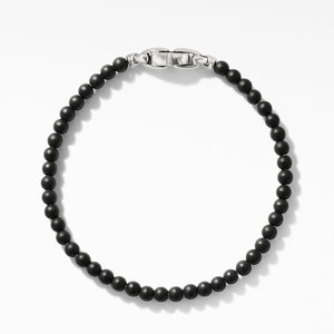 Men's Spiritual Beads Bracelet with Black Onyx 4MM