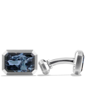 Men's Cuff Links with Pietersite