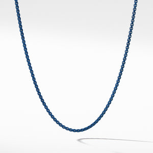 Box Chain Necklace in Blue Acrylic 4MM