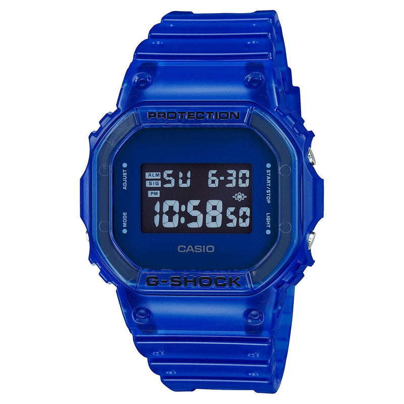 Casio G-Shock Digital Color Skeleton Series Blue Resin Watch DW5600SB-2