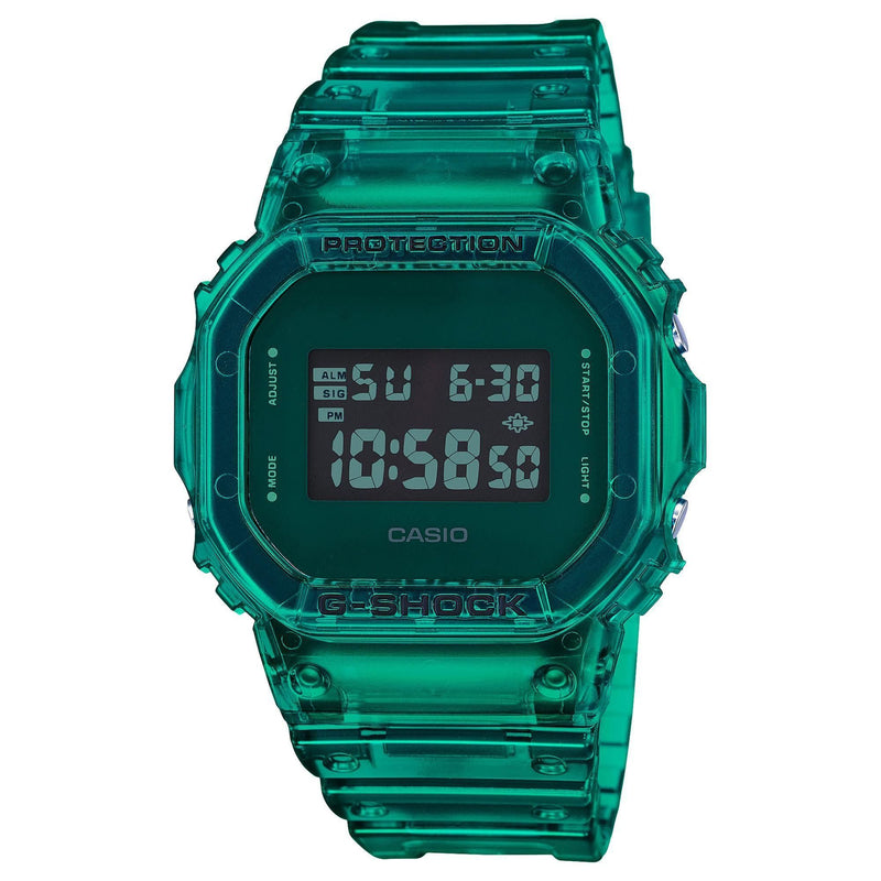 Casio G-Shock Digital Color Skeleton Series Green Resin Watch DW5600SB-3