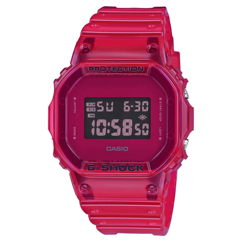Casio G-Shock Digital Color Skeleton Series Red Resin Watch DW5600SB-4