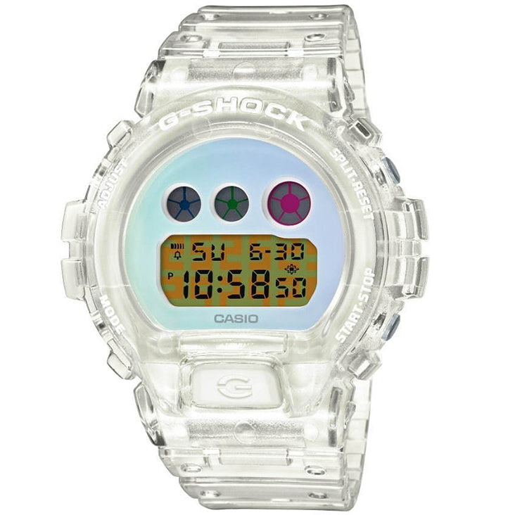 Casio G-Shock DW6900SP-7 Transparent Rainbow Skeleton 25th Anniversary Watch