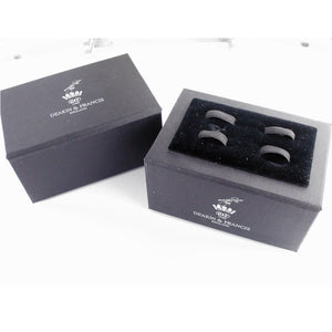 Deakin & Francis Jet Turbine Engine Cufflinks Brushed Aluminium Spinning