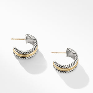 Cable Collectibles Hoop Earrings with Gold