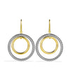Mobile Round Earrings with Gold
