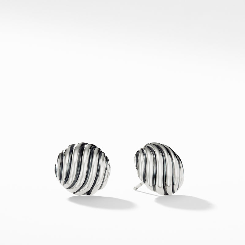 Sculpted Cable Stud Earrings 14MM