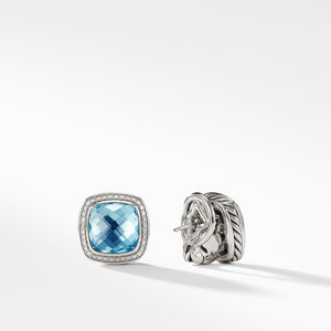 Albion 11MM Earrings with Blue Topaz and Diamonds