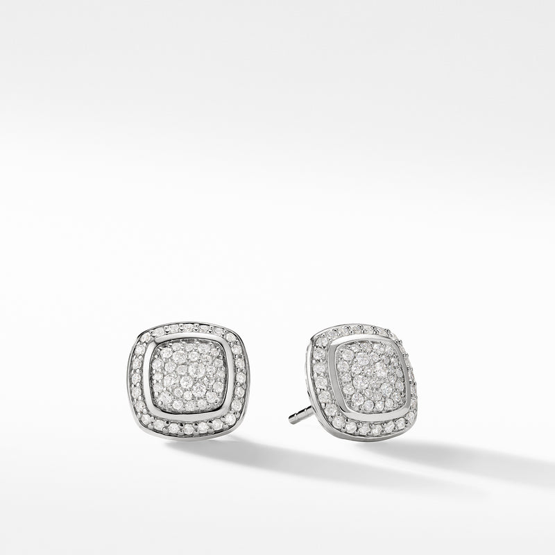 Albion 11MM Earrings with Diamonds in Silver