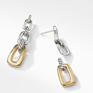 Wellesley Link Drop Earrings with 18K Gold