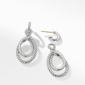 Continuance Drop Earrings with Diamonds